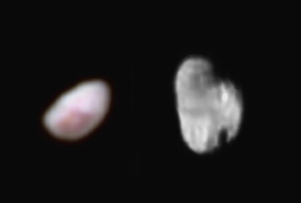 冥王星画像:いびつな形の衛星、一酸化炭素の氷ナショナルジオグラフィック日本版サイト