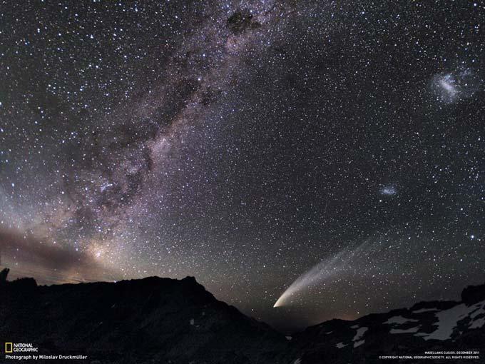 天の川と彗星とマゼラン雲
