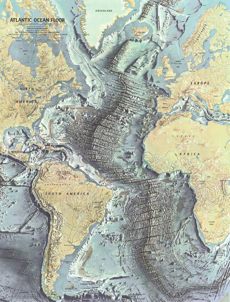 Ocean Floor Elevation Map : 南極から月面まで、ナショジオ 年の地図 ナショナルジオグラフィック日本版サイト
