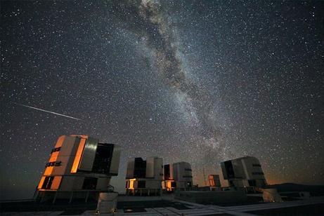 南半球から望むペルセウス座流星...