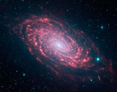 ひまわり銀河M63、スピッツァー...