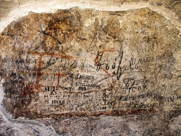 コロッセオで紀元1世紀の落書き...