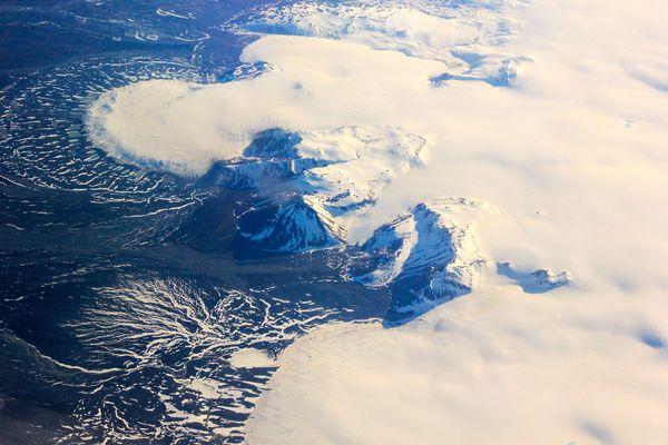 氷河の扇、アイスランド | ナシ...